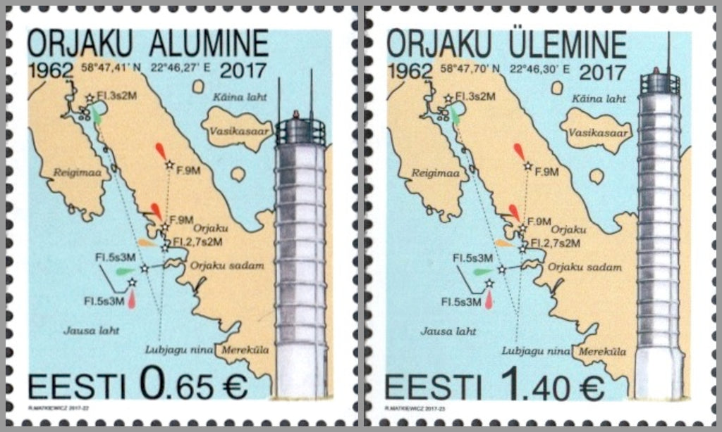 #849-850 Estonia - Orjaku Lighthouses (MNH)