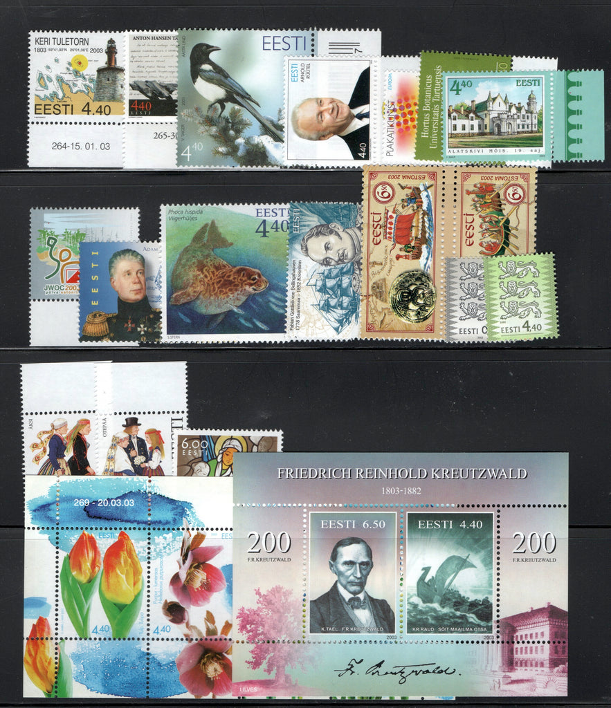 2003 Estonia Year Set (MNH)