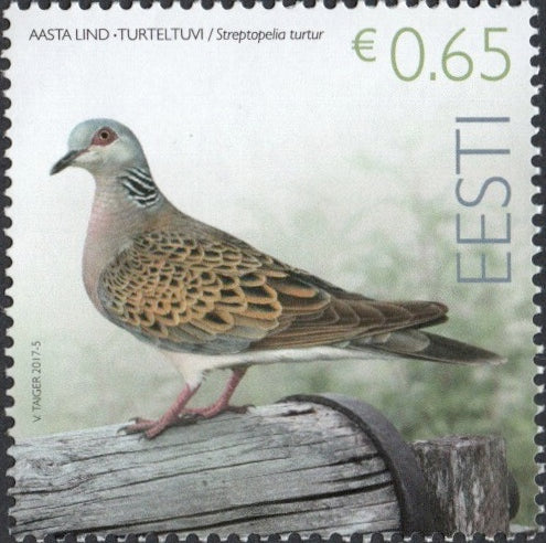 #835 Estonia - Birds: Streptopelia Turtur (MNH)