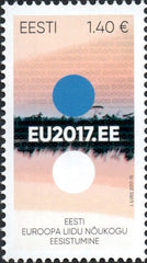 #842 Estonia - Estonian Presidency of European Union Council in 2017 (MNH)