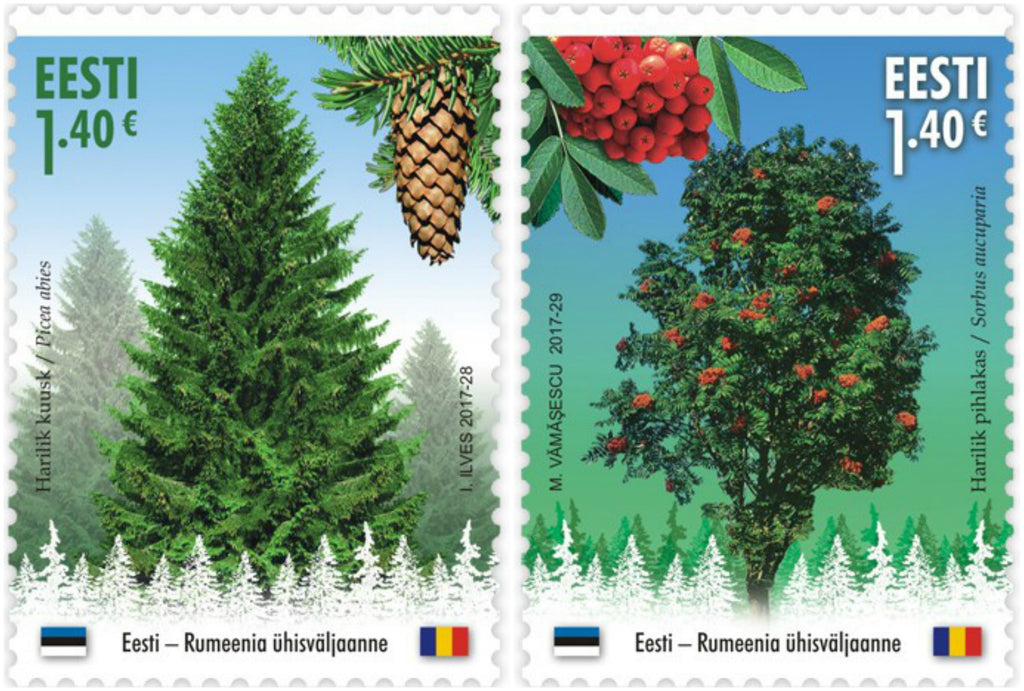 Estonia - 2017 Forest Gold, Set of 2 (Joint Issue with Romania) (MNH)