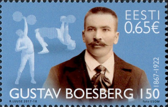 #845 Estonia - Gustav Boesberg, Weight Lifter (MNH)