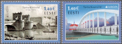 #866-867 Estonia - 2018 Europa: Bridges, Set of 2 (MNH)