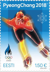 Estonia - 2018 Winter Olympics, PyeongChang (MNH)