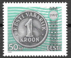 #327 Estonia - One Kroon Coin (MNH)