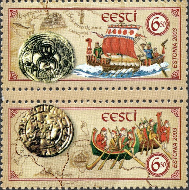 #464-465 Estonia - Ancient Trade Routes, Set of 2 (MNH)