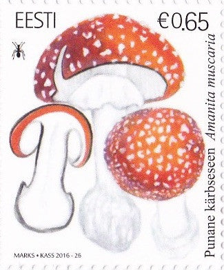 #824 Estonia - 2016 Mushrooms, Single (MNH)