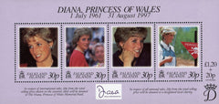 #694 Falkland Islands - 1998 Diana, Princess of Wales, Sheet of 4 (MNH)