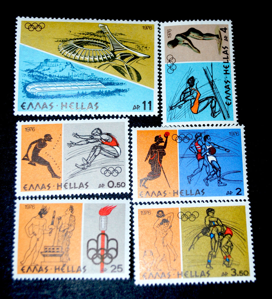 #1181-1186 Greece - 21st Olympic Games, Montreal (MNH)