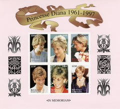 #908 Gabon - Princess Diana, Sheet of 6 (MNH)