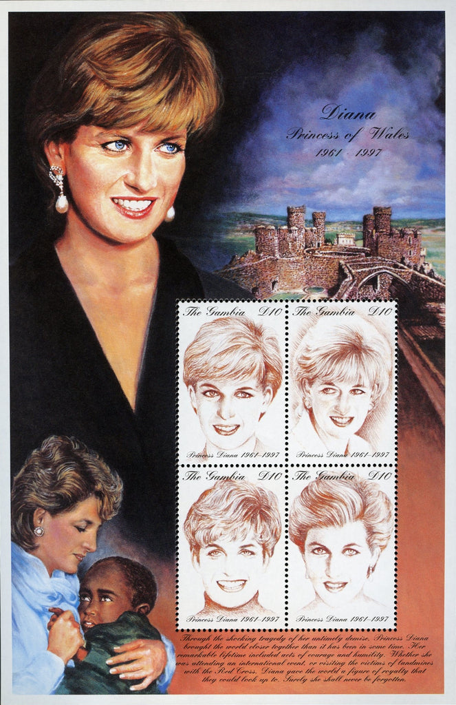 #2014 Gambia - 1997 Diana, Princess of Wales, Sheet of 4 (MNH)