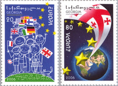 #398-399 Georgia - 2006 Europa: Integration (MNH)