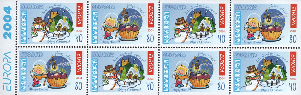 #341a Georgia - 2004 Europa: Holidays, Christmas and Easter Booklet (MNH)