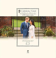 Gibraltar - Meghan Markle & Prince Harry M/S + Princess Kate & Prince William M/S (MNH)