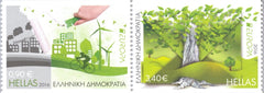 #2739Ac Greece - 2016 Europa: Think Green, Booklet Stamps, Pair (MNH)