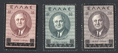 #469-471 Greece - Franklin D. Roosevelt (MLH)
