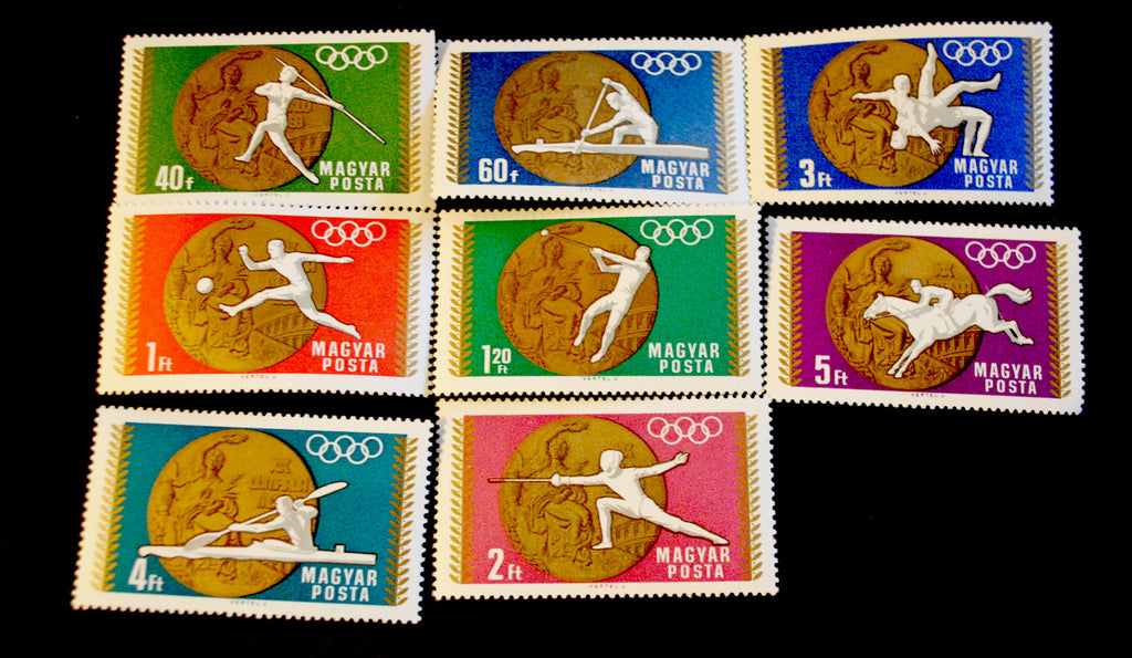 #1950-1957 Hungary - Victories Won by Hungary in 1968 Olympic Games, Set of 8 (MNH)
