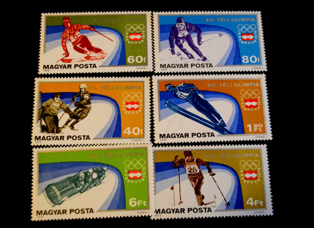 #2394-2400 Hungary - 12th Winter Olympic Games, Set of 7 (MNH)