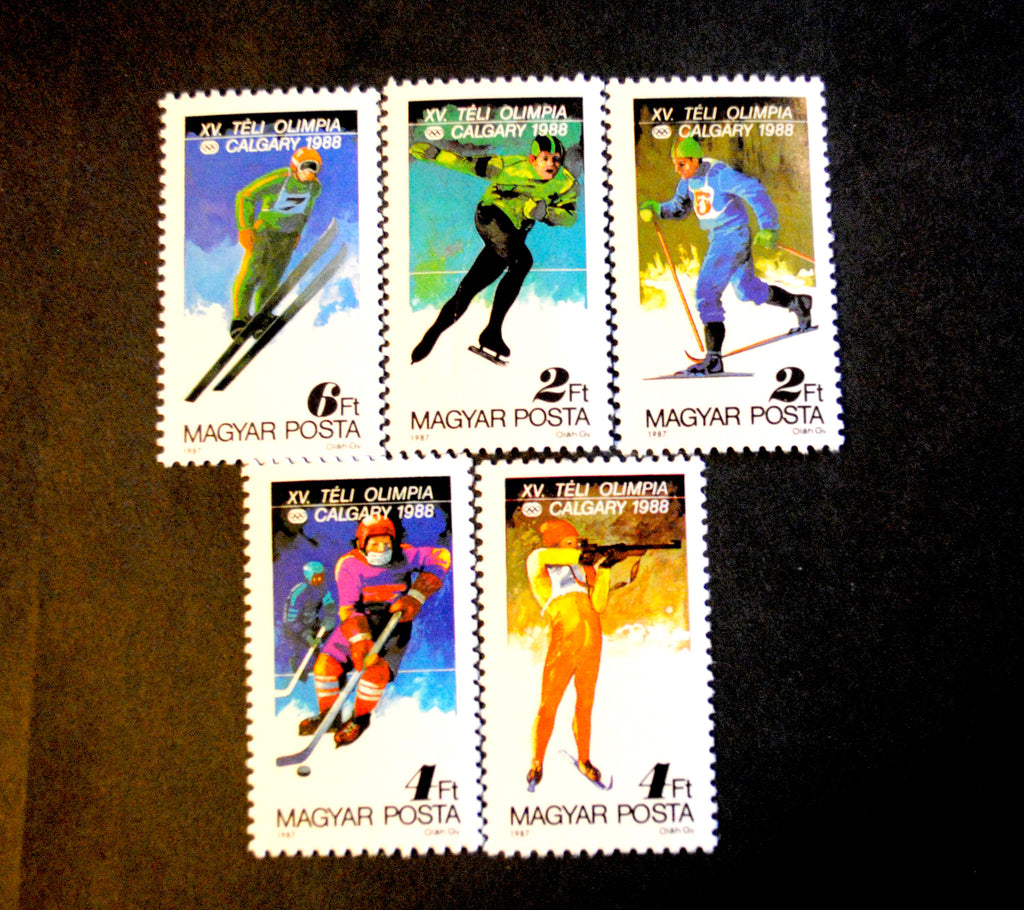 #3094-3099 Hungary - 1988 Winter Olympics, Set of 6 (MNH)