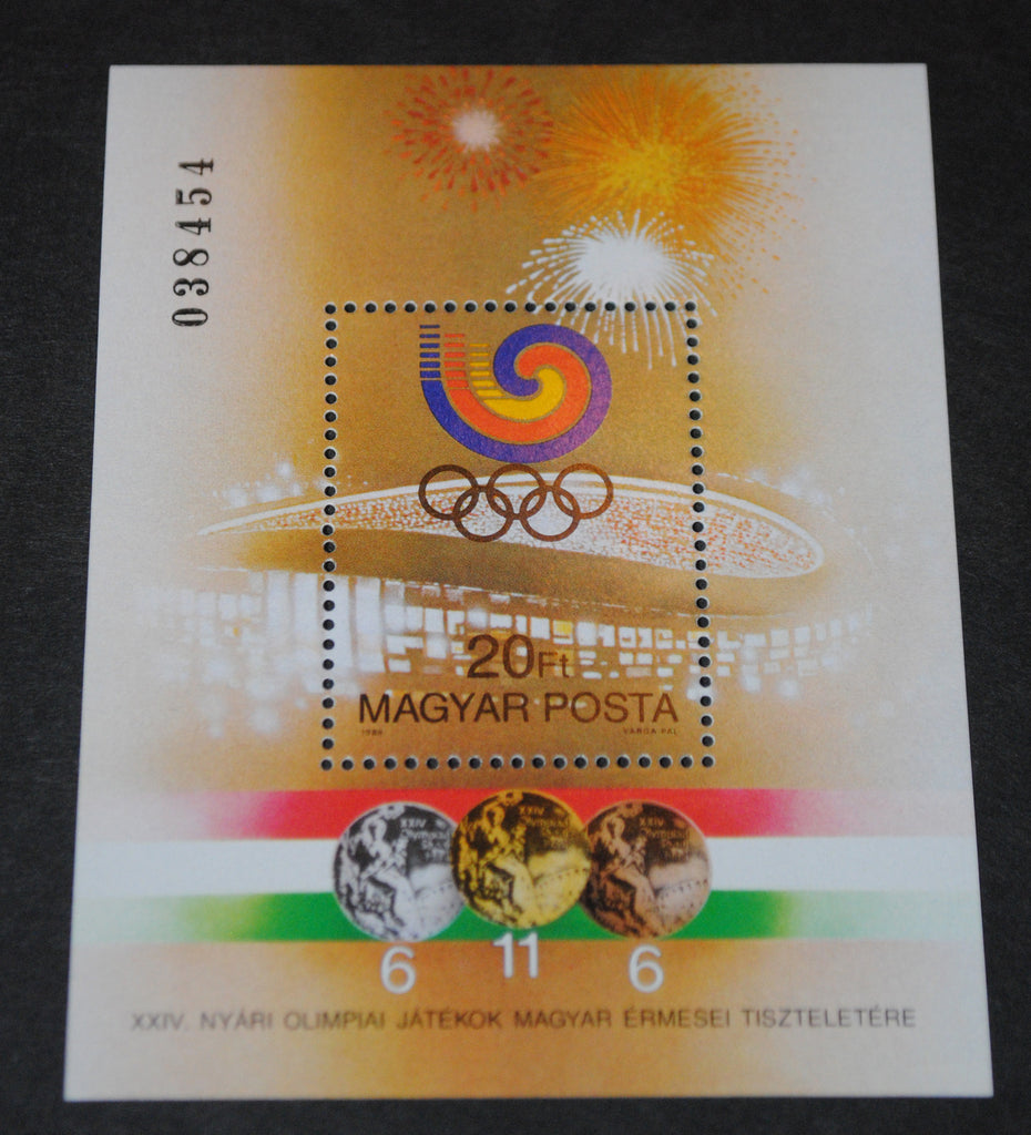 #3161 Hungary - 1988 Olympic Games Medal Winners S/S (MNH)