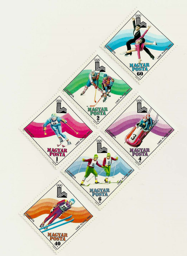 #C410-C415 Hungary - 13th Winter Olympic Games, Set of 6 (MNH)
