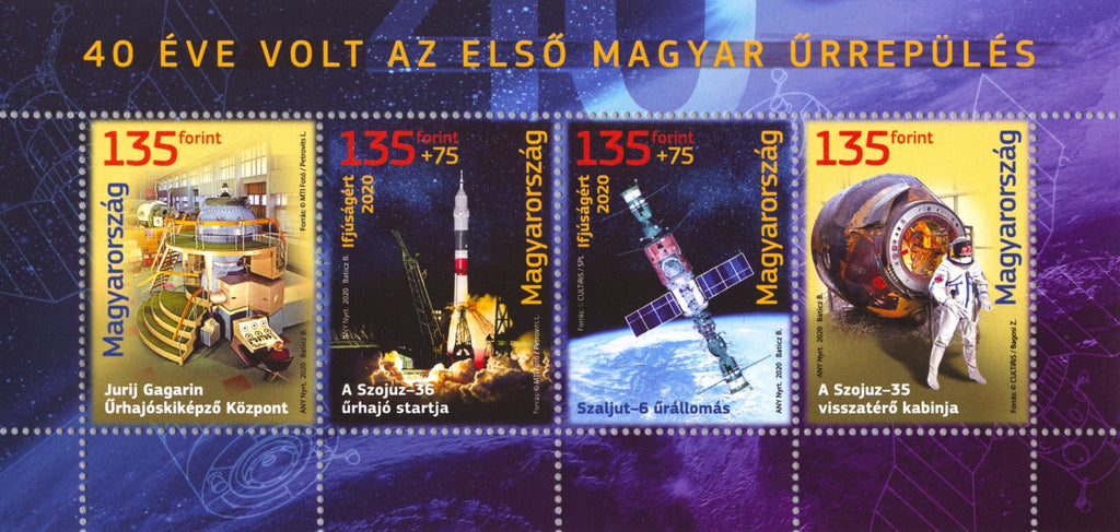 Hungary - 2020 For Youth: First Hungarian Space Flight, 40th Anniv. M/S (MNH)