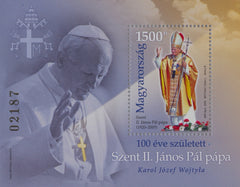 Hungary - 2020 Pope John Paul II S/S (MNH)