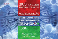 Hungary - 2020 Year of National Cohesion, Imperf. Special Ed. S/S (Pre-Order) (MNH)