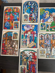 #2188-2194 Hungary - Stained-glass Windows, Maximum Cards (Used)