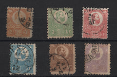 #1-6 Hungary - Franz Josef I, Litho., Set of 6 (Used)