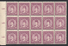 #104-105 Hungary - 1916 Queen Zita and King Charles IV, 2 Blocks of 15 (MNH)