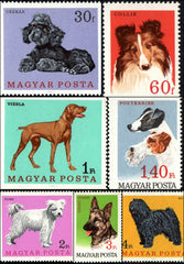 #1835-1841 Hungary - Dogs, Set of 7 (MNH)