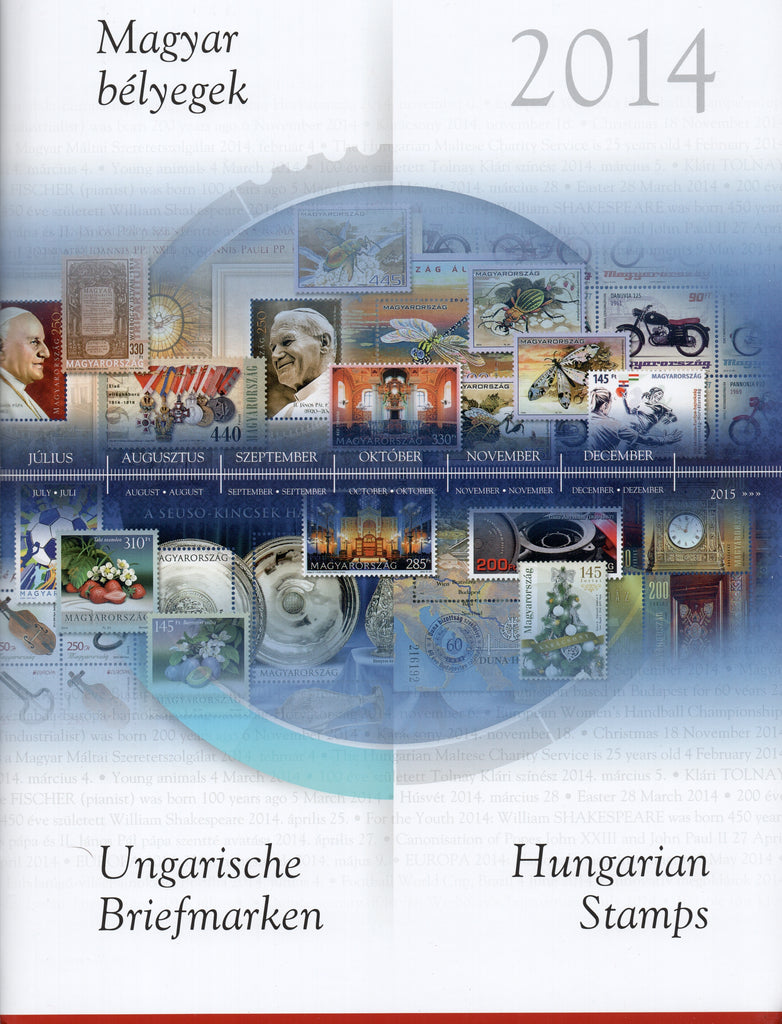 2014 Hungary Year Set & S/S (MNH)