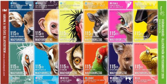 #4399 Hungary - 2016 Animal Cubs II M/S (MNH)