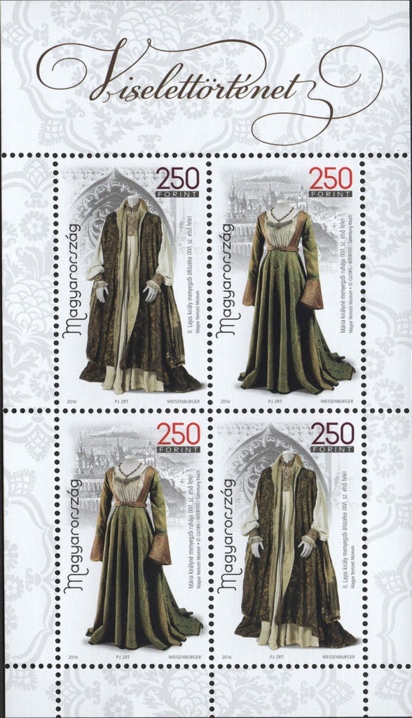 #4407 Hungary - 2016 History of Clothing I M/S (MNH)