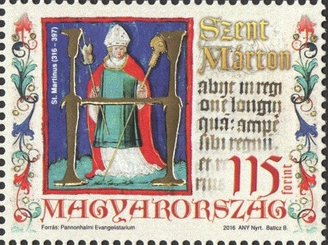 #4379 Hungary - St. Martin of Tours (MNH)