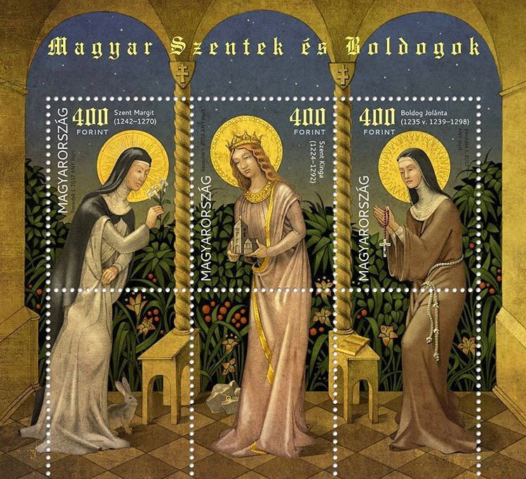 #4444 Hungary - 2017 Saints and Blesseds V, Sheet of 3 (MNH)
