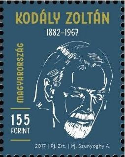 Hungary - 2017 Zoltán Kodály Memorial Year, Single (MNH)