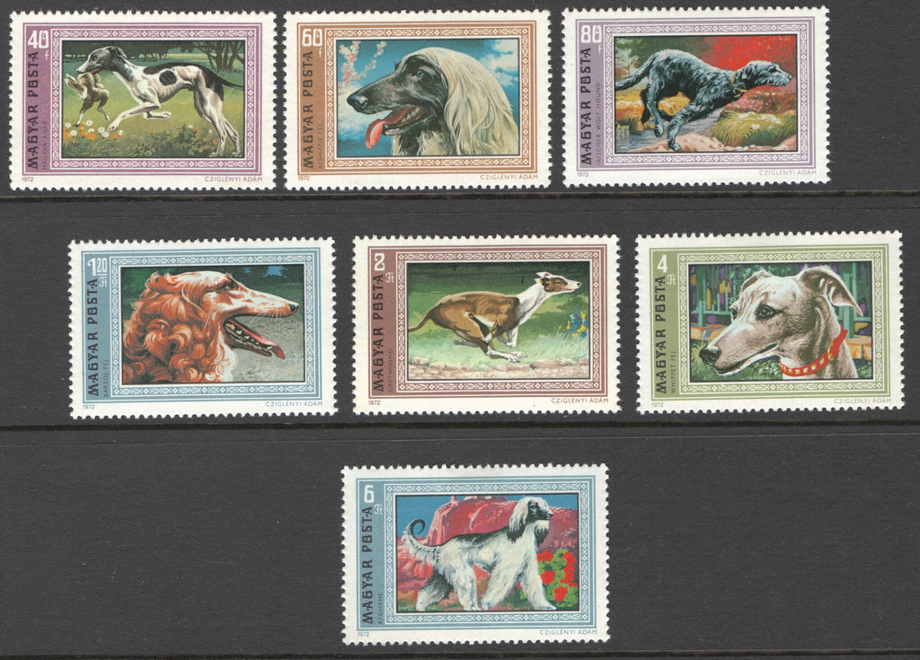 #2135-2141 Hungary - Dogs, Set of 7 (MNH)