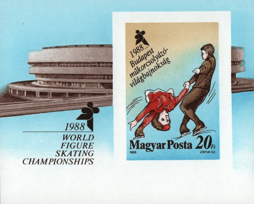 #3117 Hungary - 1988 World Figure Skating Championships, Imperf. S/S (MNH)