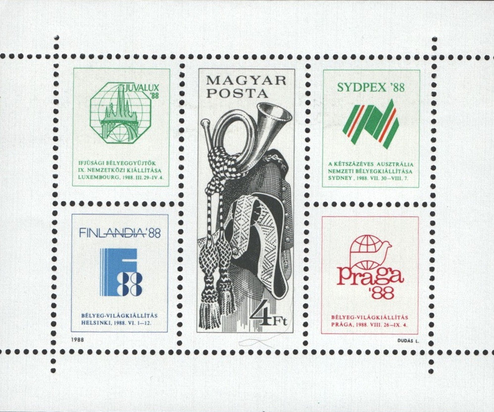 #3119 Hungary - Intl. Stamp Exhibitions M/S (MNH)