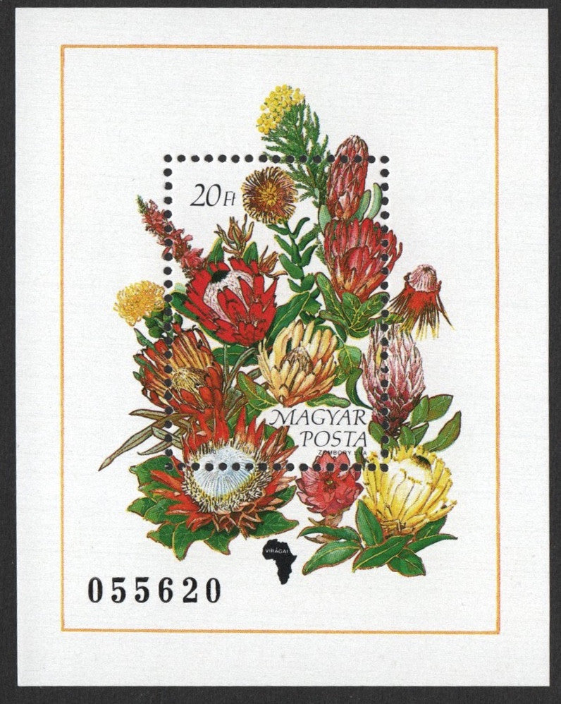 #3236 Hungary - Flowers of the Continents, Africa S/S (MNH)