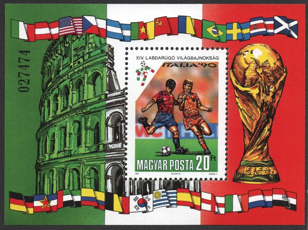 #3247 Hungary - 1990 World Cup Soccer Championships S/S (MNH)