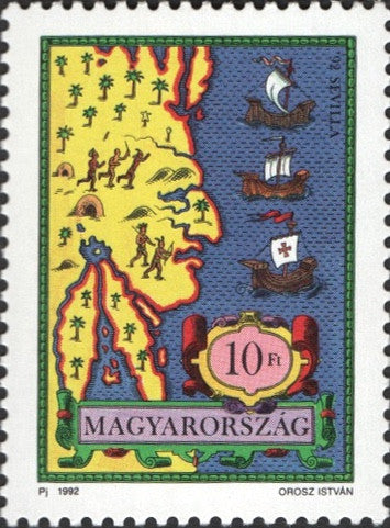 #3338-3341 Hungary - Discovery of American, 500th Anniv. (MNH)