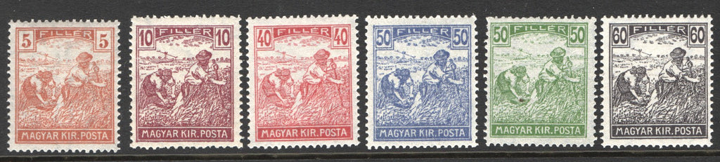 #335-363 Hungary - Harvester and Parliament, Types of 1916-18 Issue (MNH)