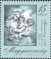 #3370 Hungary - 1992 Christmas (MNH)