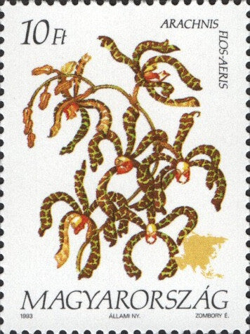 #3377-3380 Hungary - Flowers of the Continents Type of 1990 (MNH)