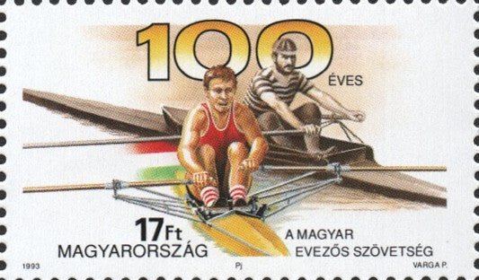 #3384 Hungary - Hungarian Rowing Association, Cent. (MNH)