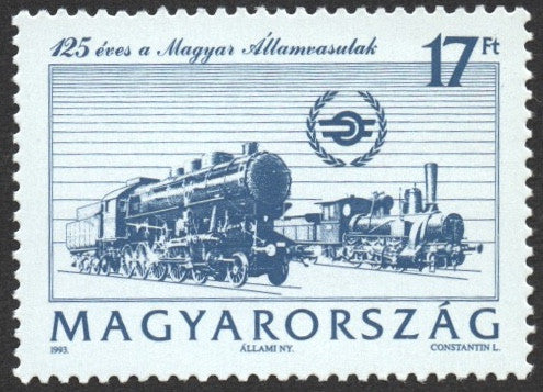 #3396 Hungary - Hungarian State Railways, 125th Anniv. (MNH)