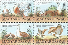 #3429a Hungary - World Wildlife Fund, Block of 4 (MNH)
